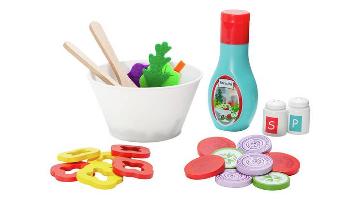 Chad Valley Wooden Toy Salad Set