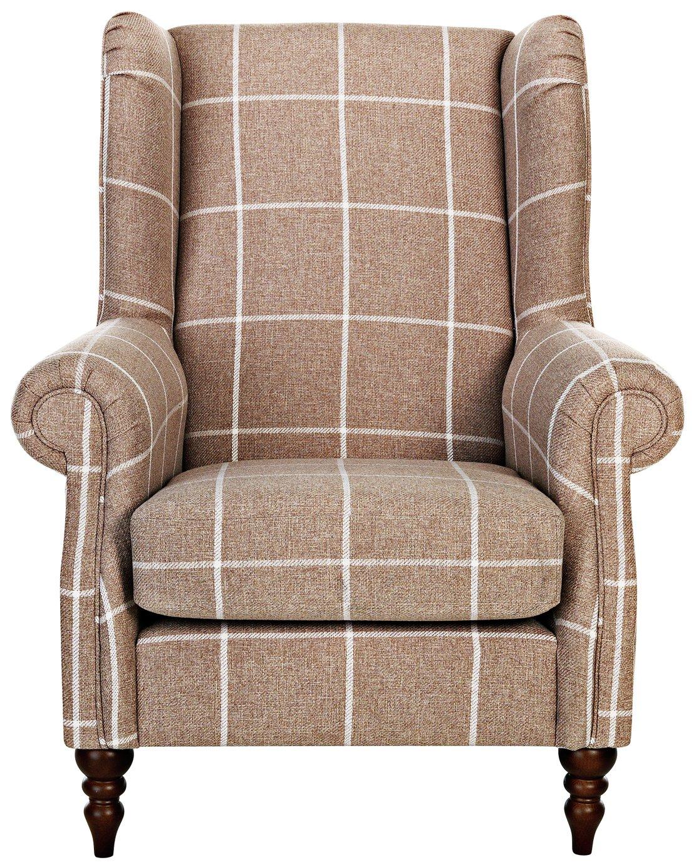 Argos Home Argyll Fabric High Back Chair - Mink