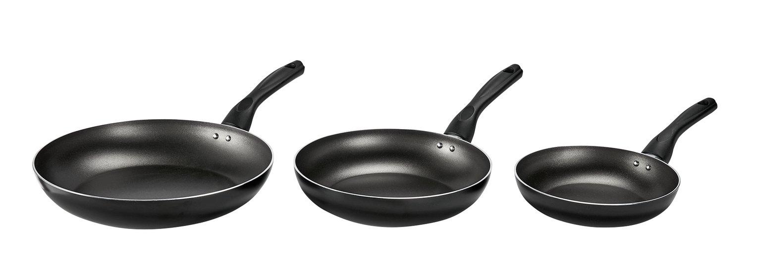 Image of HOME 3 Piece Teflon Frying Pan Set