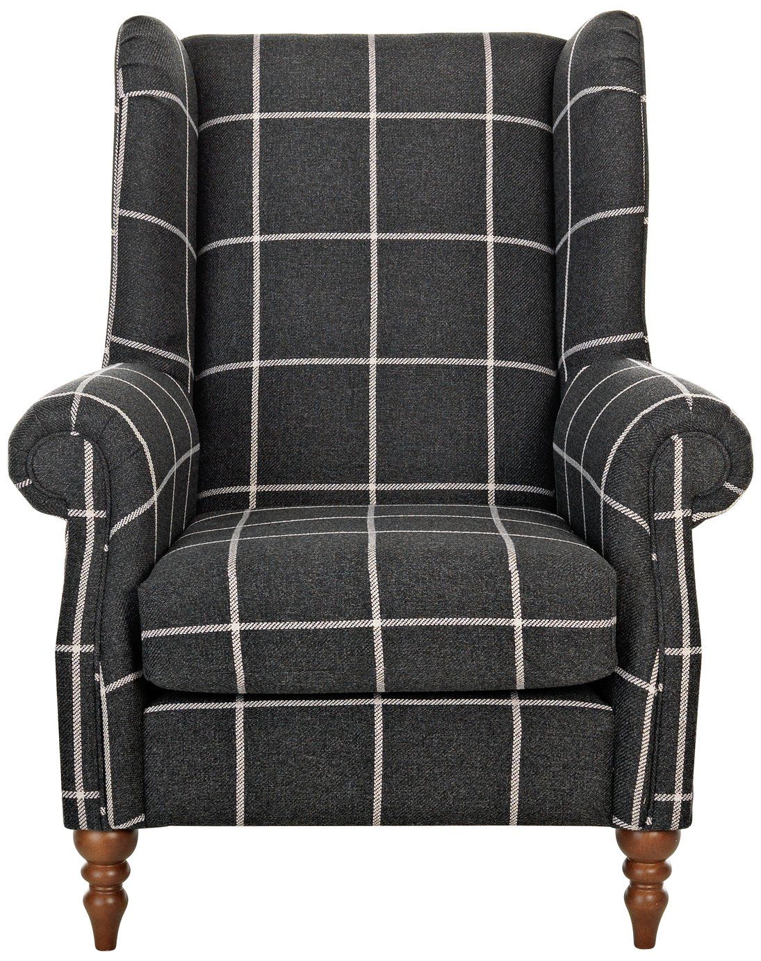 Argos Home Argyll Fabric High Back Chair - Charcoal
