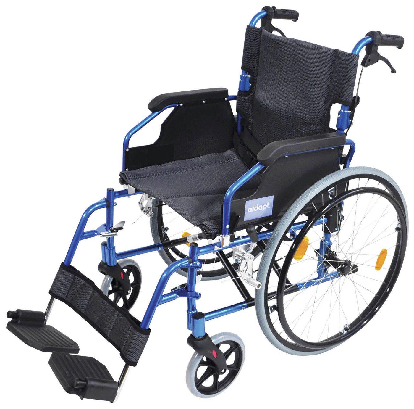Aidapt Lightweight Self Propelled Aluminium Wheelchair- Blue