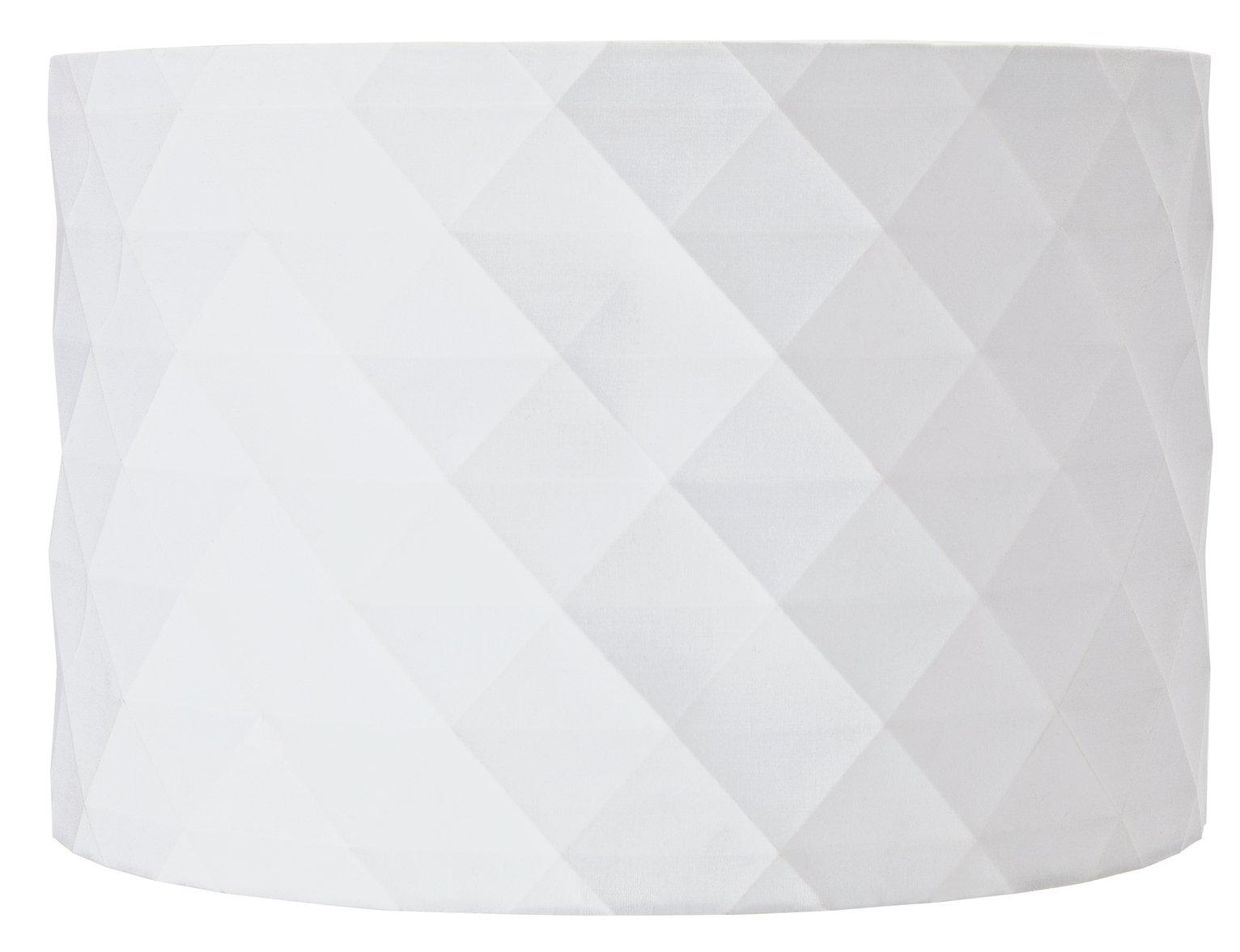 Argos Home Diamond Patterned Shade - White
