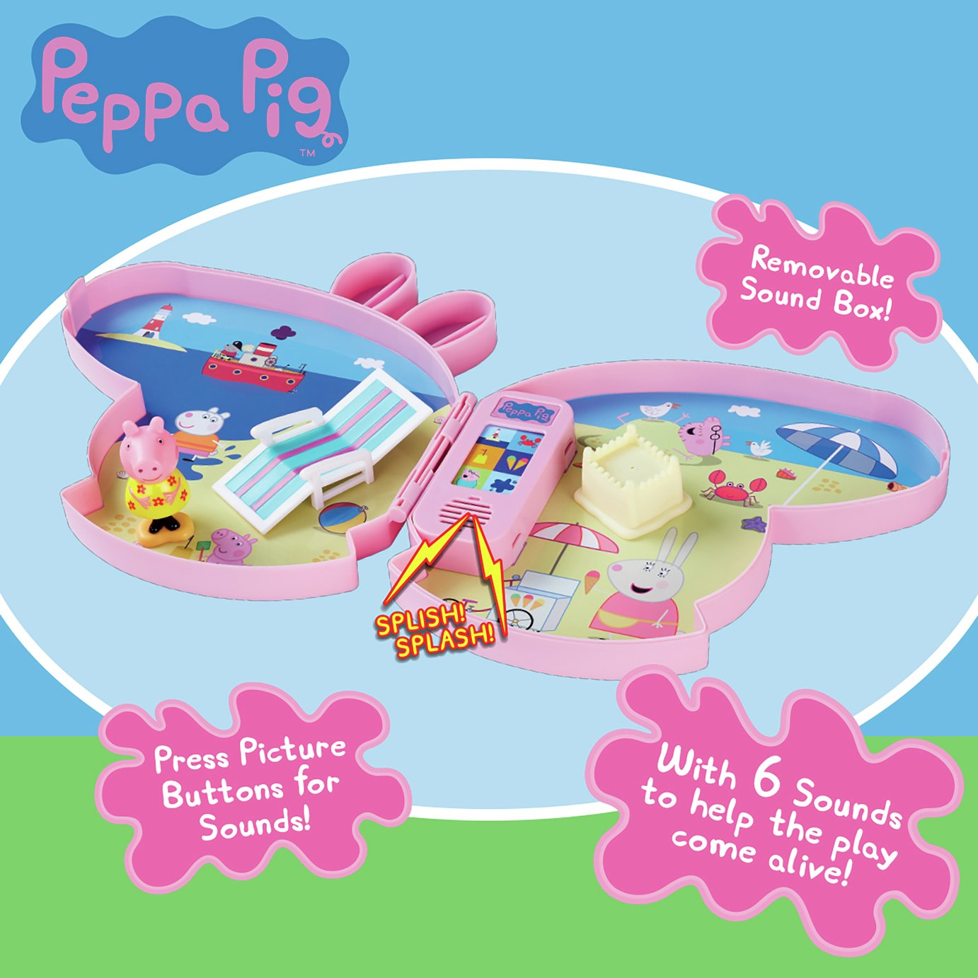 Peppa Pig Pick-Up and Play Playset Assortment