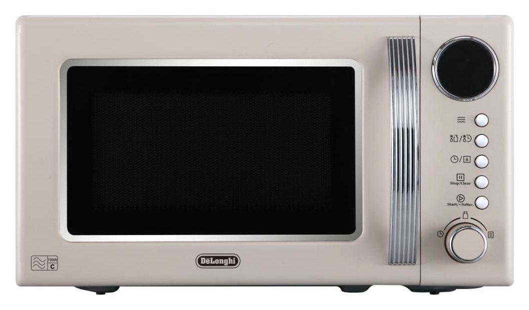 De'Longhi Vintage 700W Standard Microwave - Cream