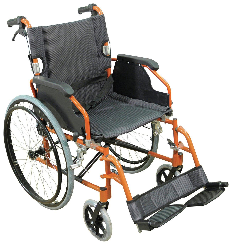 Aidapt Lightweight Self Propelled Wheelchair - Orange