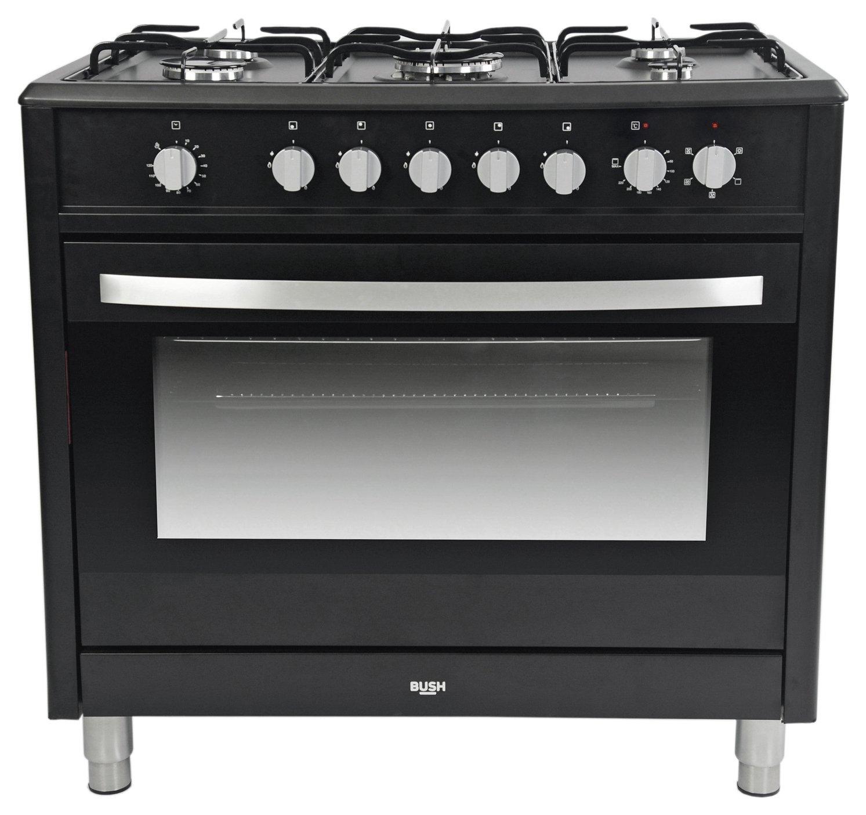 Image of Bush BRCNB90SEBK Dual Fuel Range Cooker - Black