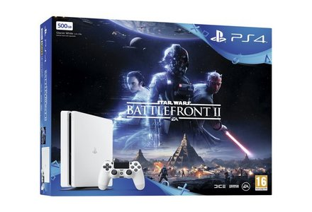 PS4 Slim 500GB Star Wars Battlefront 2 White Console Bundle