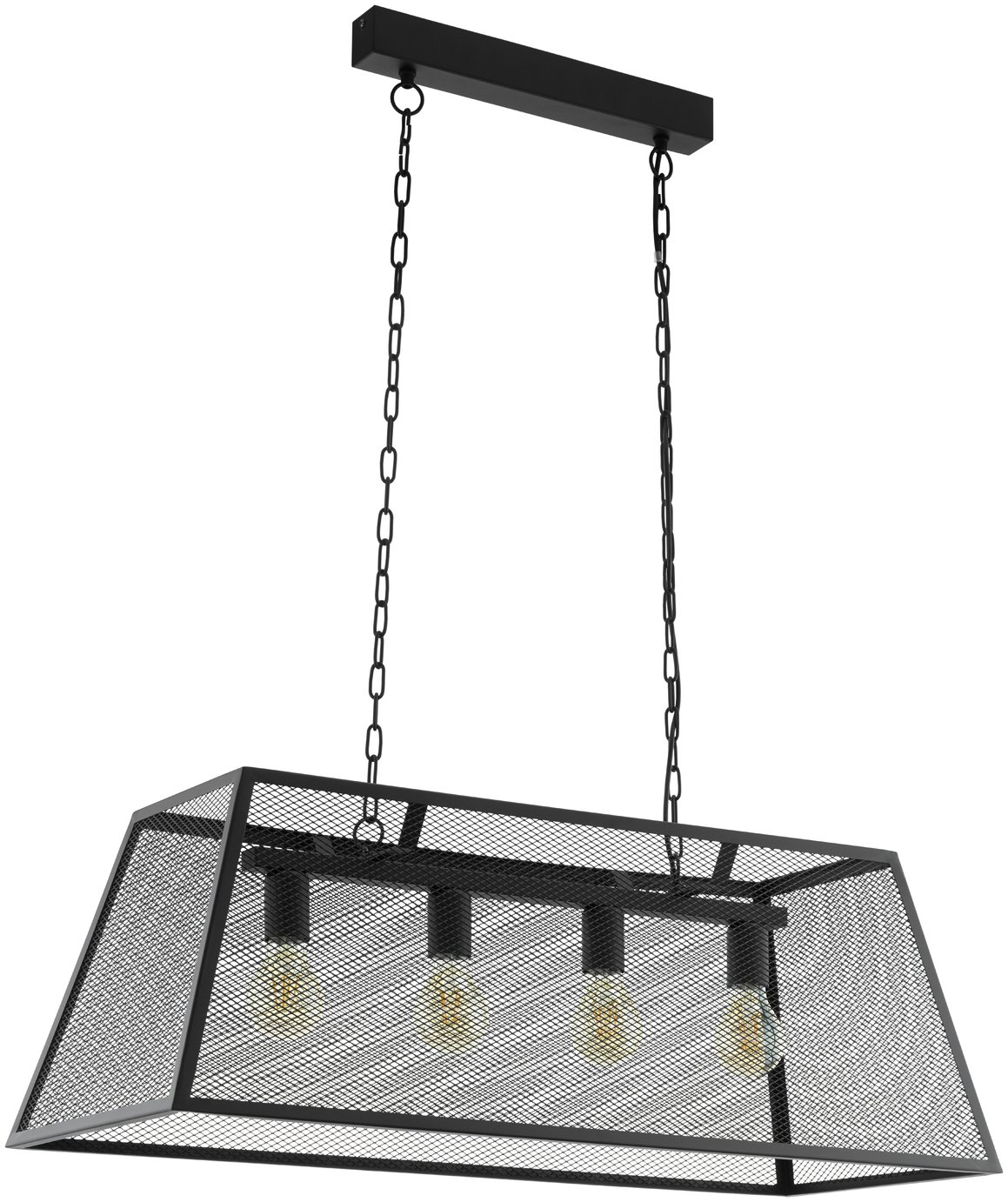 Image of Eglo Amesbury 4 Light Pendant Light - Black