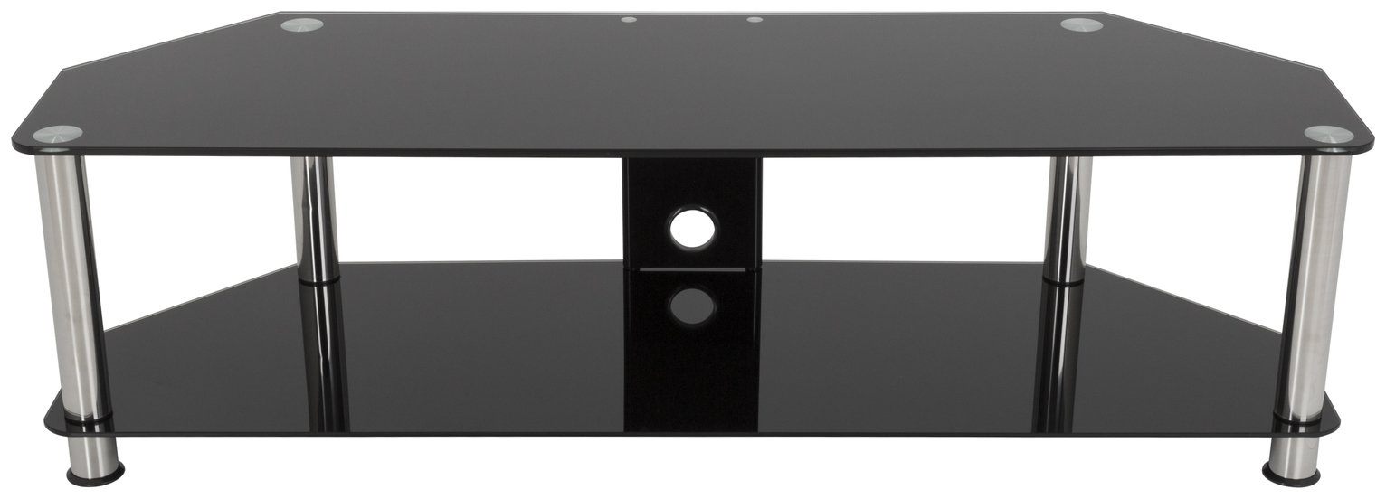 Image of AVF Classic SDC1400CM 65 Inch TV Stand - Black / Chrome