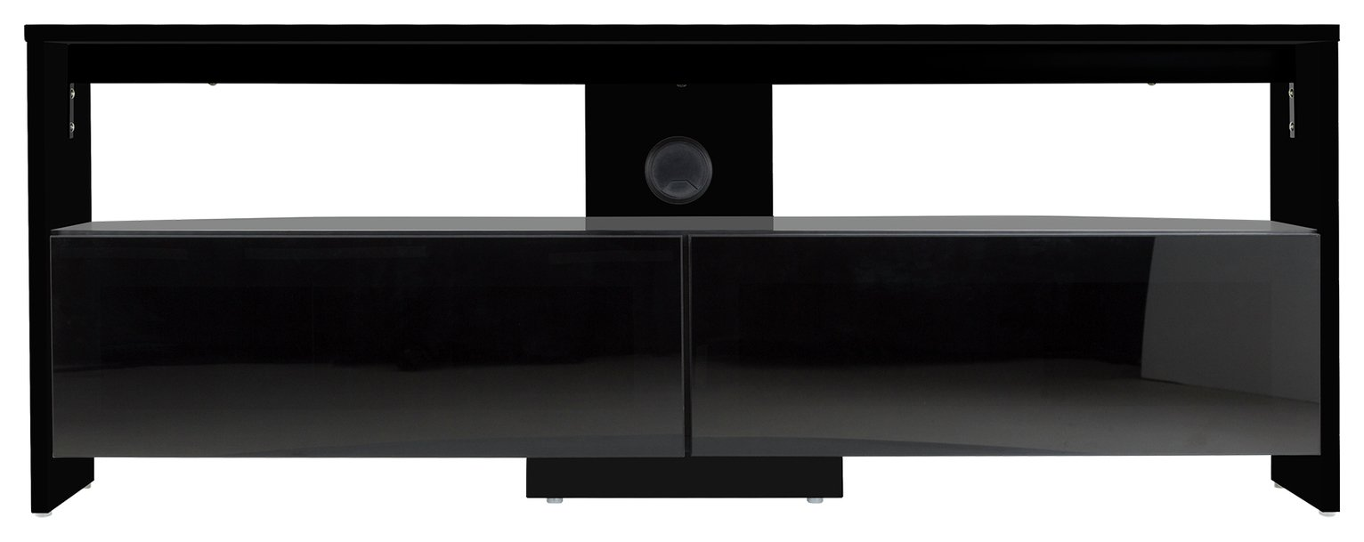 AVF Saunton Up to 60 Inch Wood Effect TV Stand - Black