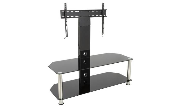 AVF Classic Up to 65 Inch Glass TV Stand - Black