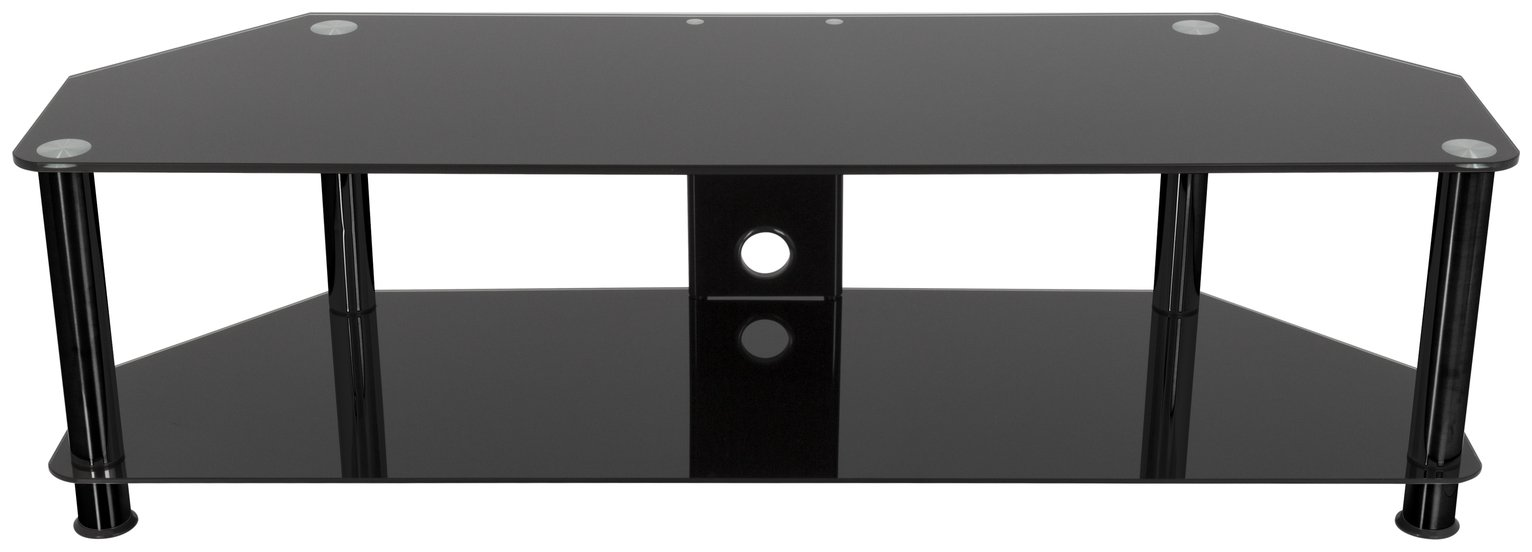 AVF Classic Up to 65 Inch Tempered Glass TV Stand - Black