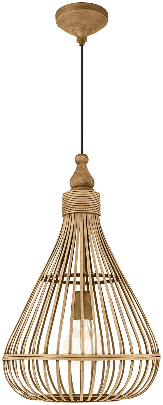 Image of Eglo Amsfield Wooden Pendant Light