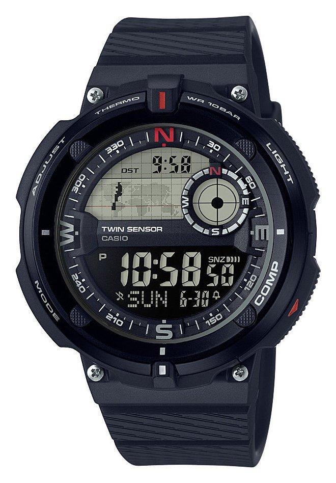 Casio Men's Black Silicone Strap Watch