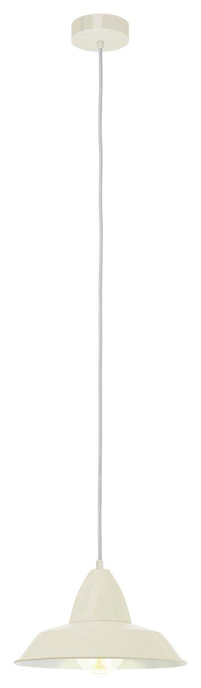 Image of Eglo Auckland Diner Style Pendant Light - Cream