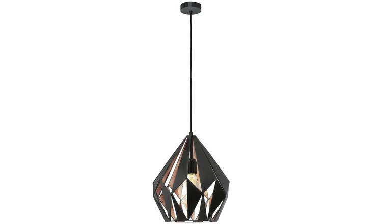 Eglo Carlton Pendant Light - Black & Copper