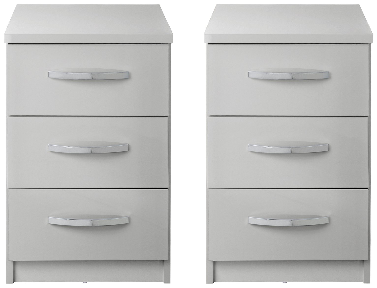 Argos Home New Hallingford 2 Gloss Bedside Chests