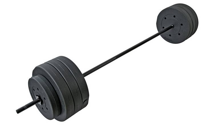 Men's Health Spin Lock Vinyl Barbell Set - 75kg