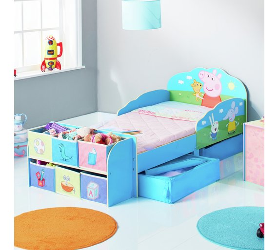 Buy Peppa Pig Toddler Bed With Cube Storage