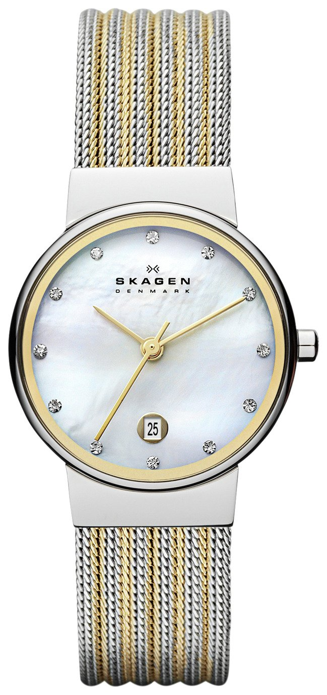 Skagen Ladies' 35SSGS Ancher Mesh Two Colour Strap Watch