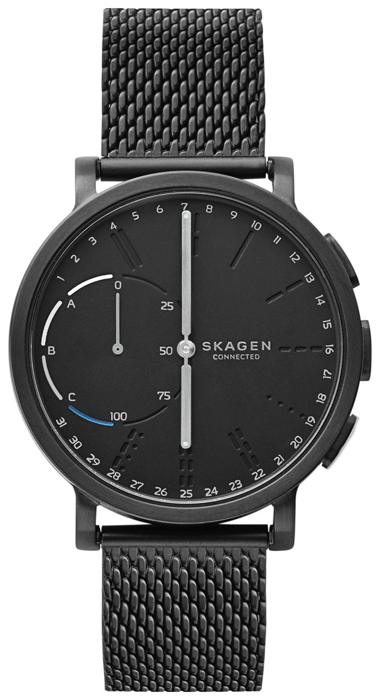 Skagen Hagen Men's Black Mesh Strap Hybrid Smart Watch