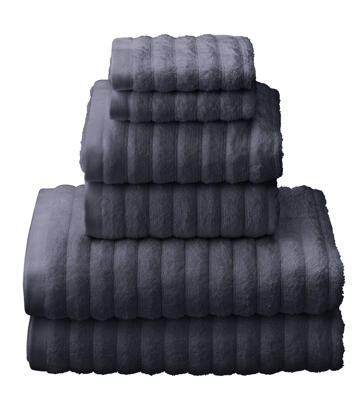 Argos Home Quick Dry 6 Piece Towel Bale - Slate