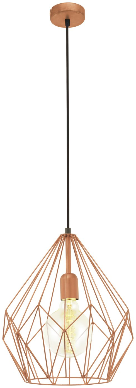 Image of Eglo Carlton Pendant Light - Copper