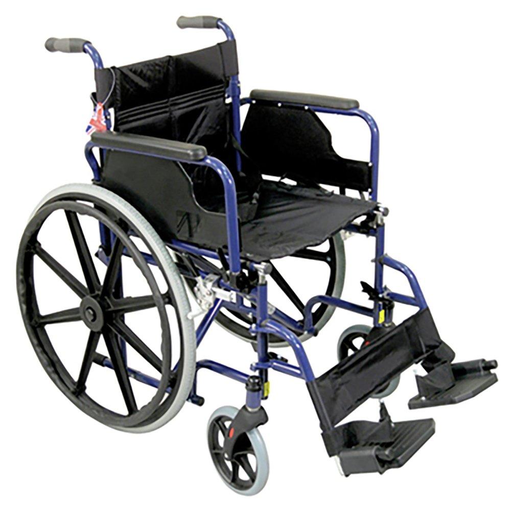 Aidapt Self Propelled Steel Wheelchair - Blue