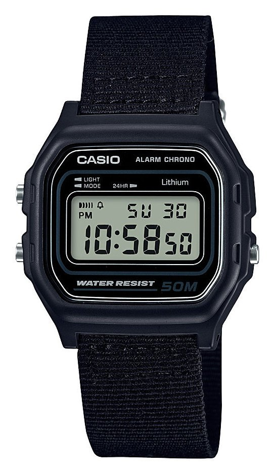 Casio Men's Black Canvas Strap Digital Chronogrpah Watch