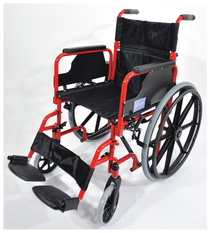 Aidapt Self Propelled Steel Wheelchair - Red
