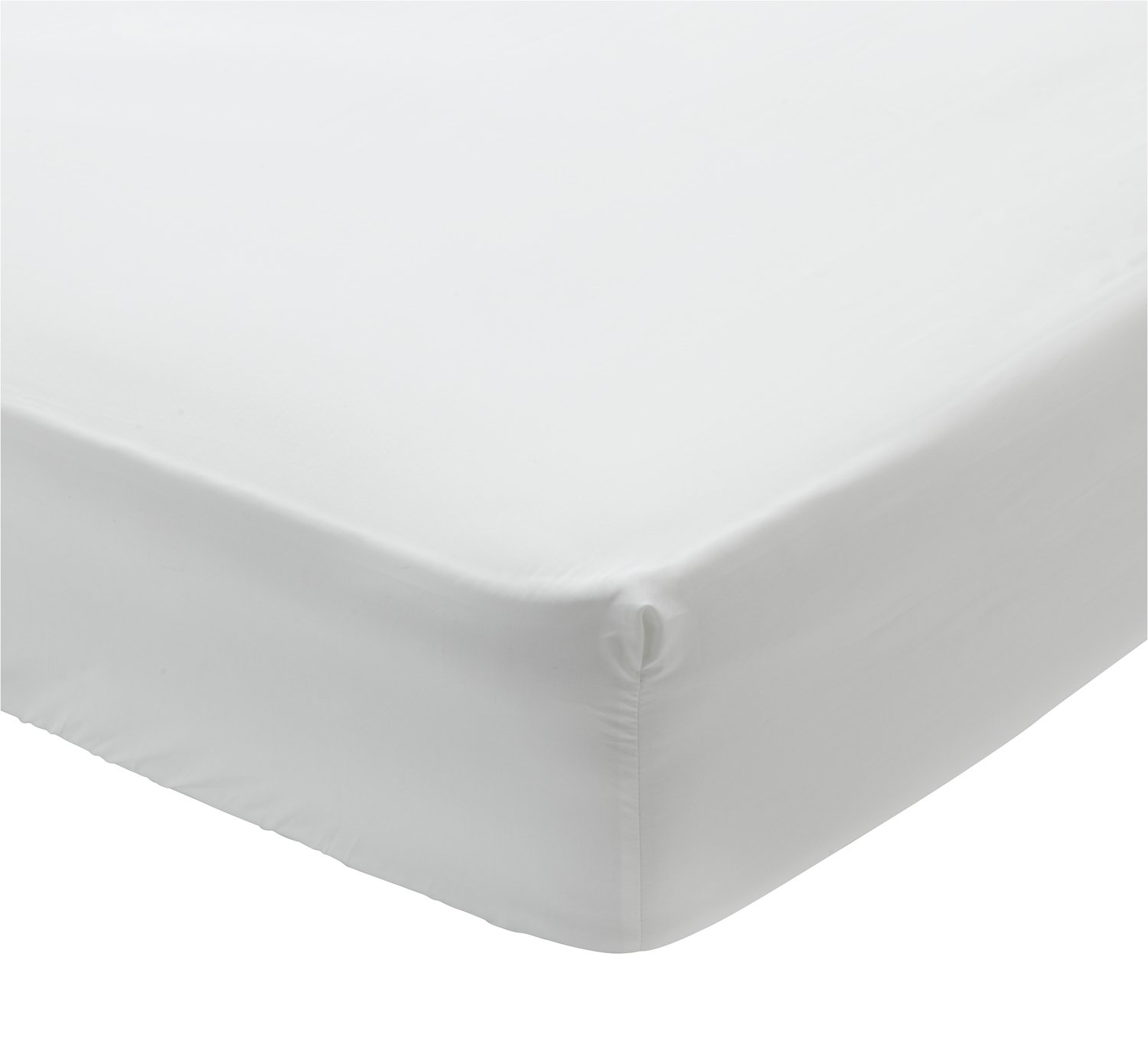 argos-home-white-400-tc-deep-fitted-sheet---double by argos