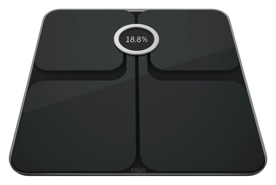 Image of Fitbit Aria 2 Wi-Fi Body Weight Analysis Scale - Black