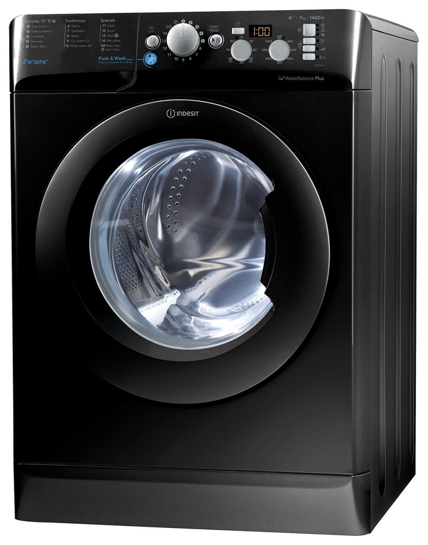 Image of Indesit BWD71453 7KG 1400 Spin Washing Machine - Black