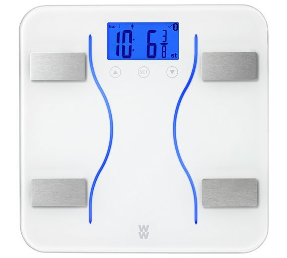 WW Bluetooth Body Analysis Bathroom Scale - White