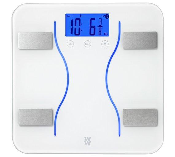 buy weight watchers bluetooth digital body analyser scale | bathroom ...