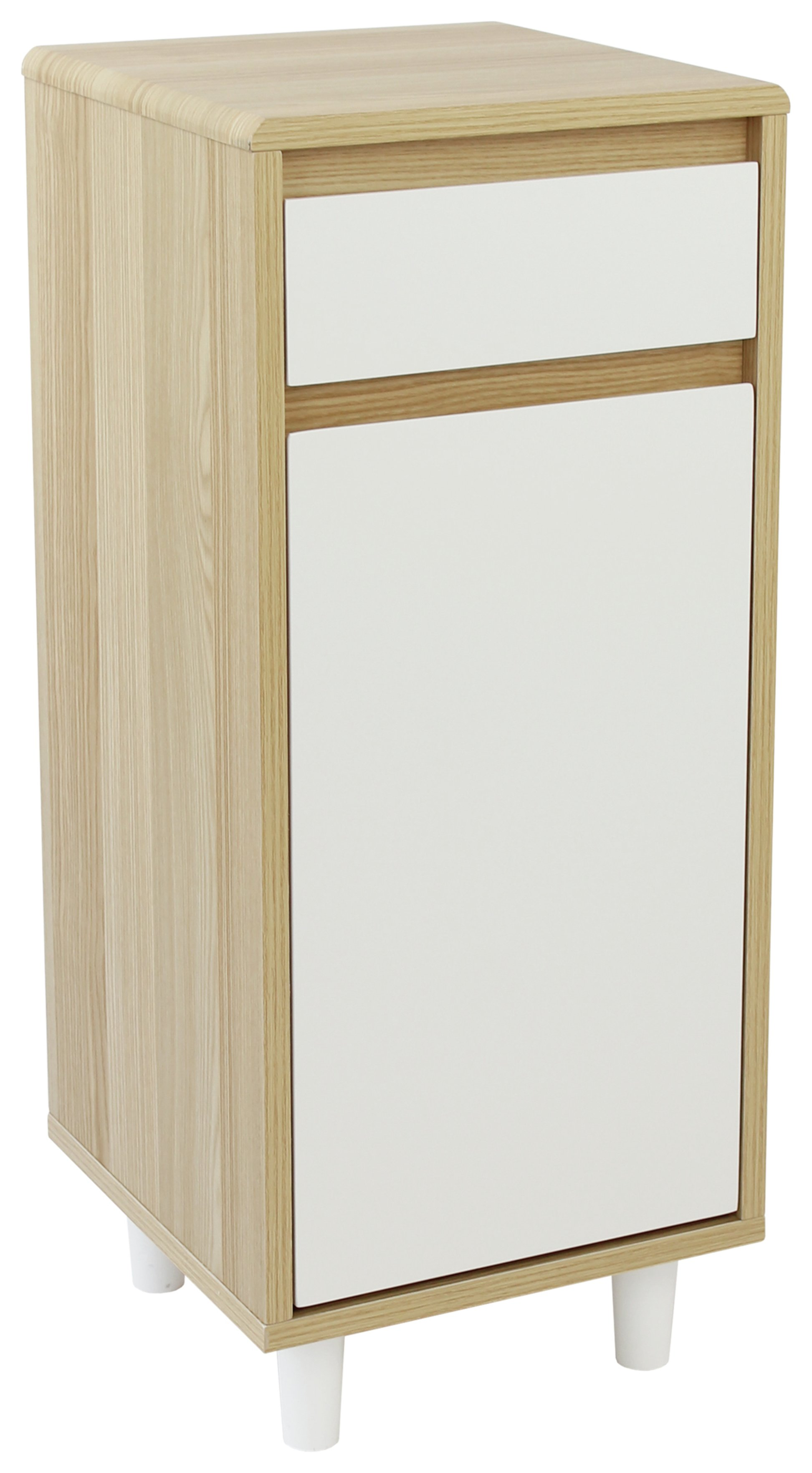 Image of Collection Caleb 1 Door 1 Drawer Cabinet - Two Tone