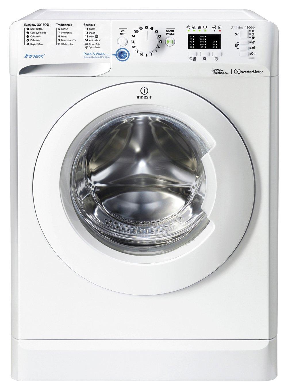 Image of Indesit BWA81283XW 8KG 1200 Spin Washing Machine - White