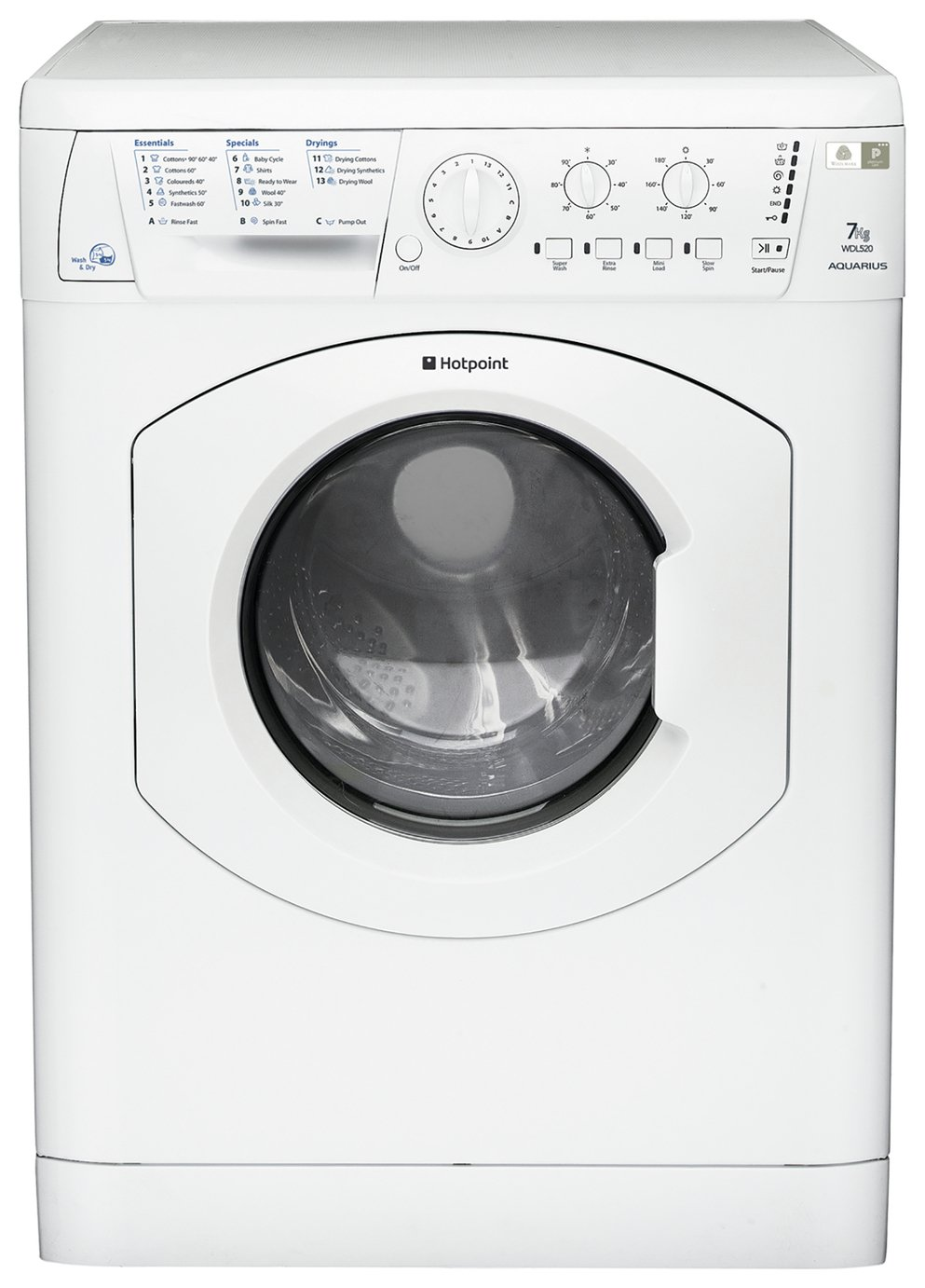 Hotpoint WDL520PUKC 6kg / 5kg Washer Dryer