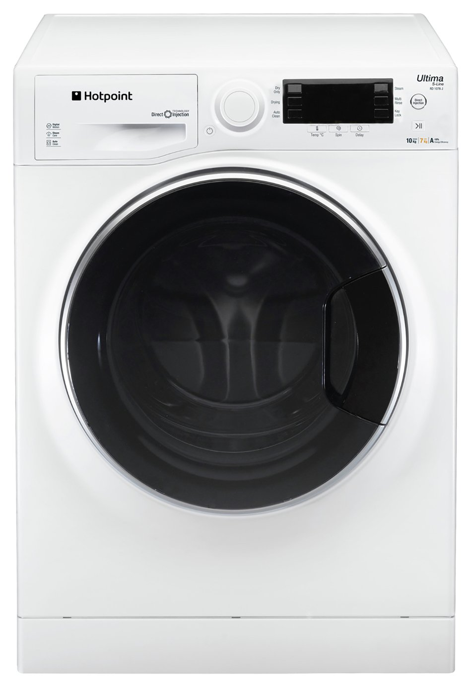 Hotpoint RD1076JD 10KG / 7KG 1600 Spin Washer Dryer - White