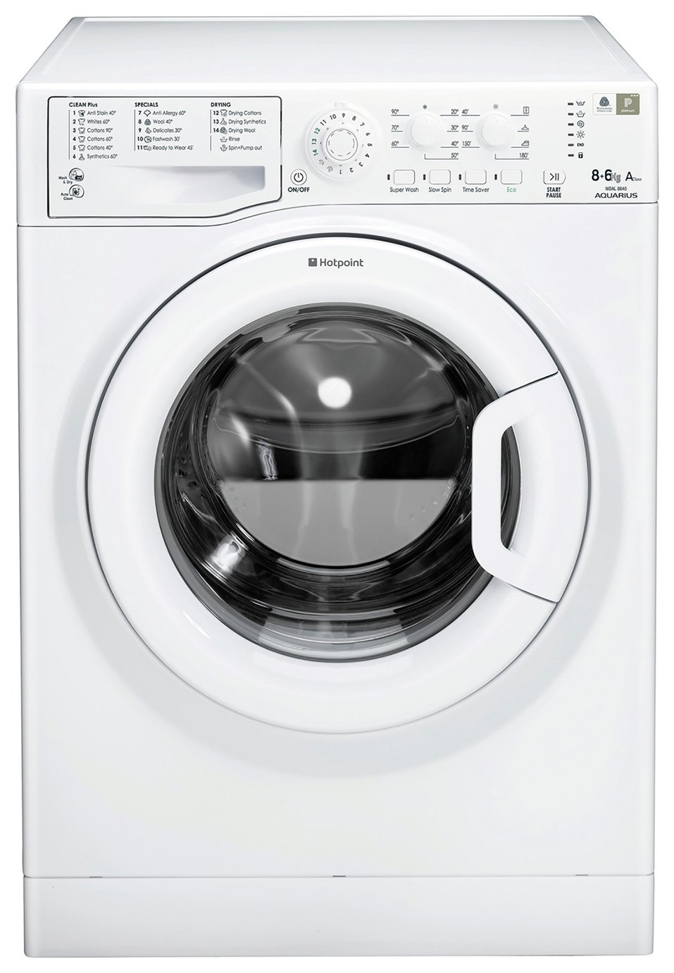 Hotpoint WDAL8640PUK 6KG 1400 Spin Washer Dryer - White