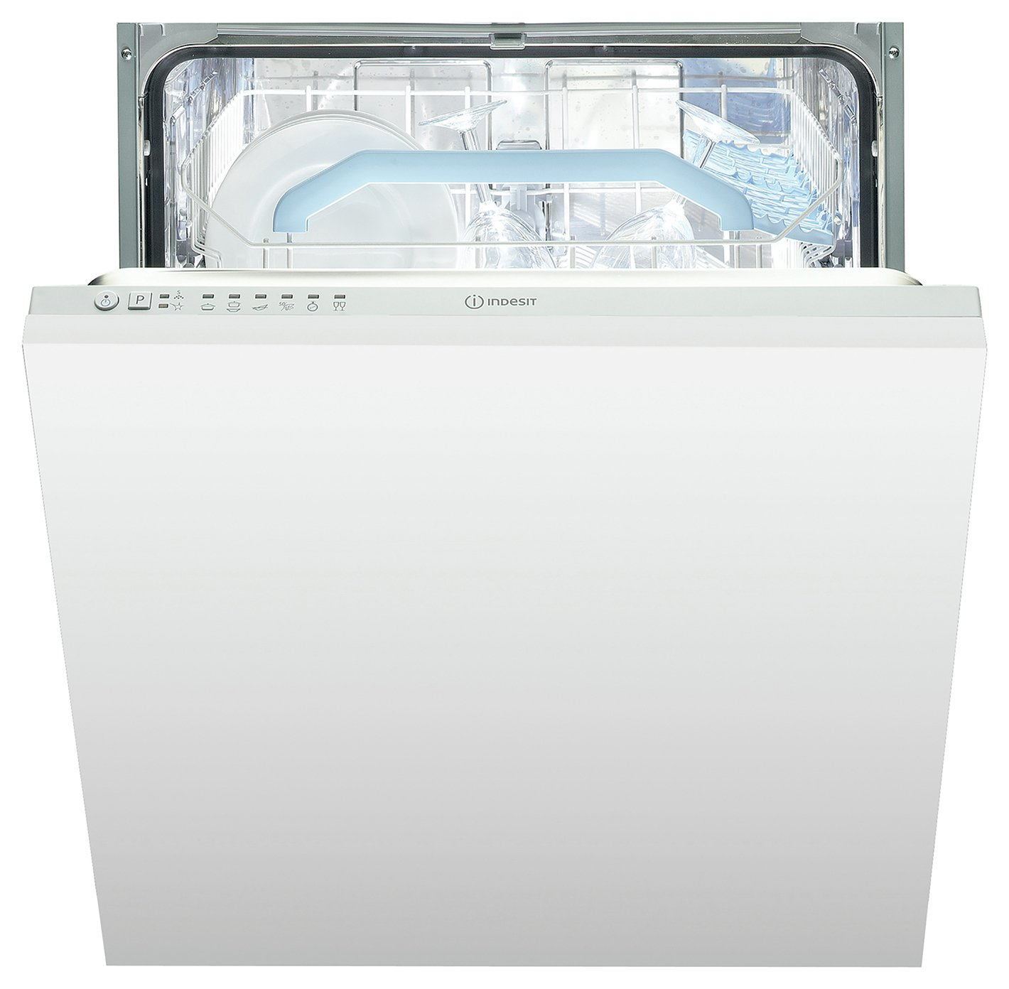 Indesit DIF16B1 Full Size Integrated Dishwasher - White