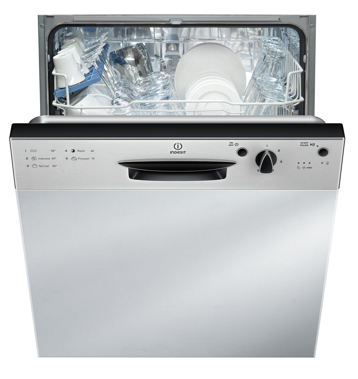 Indesit Ecotime DPG 15B1 NX Built-in Dishwasher - Silver