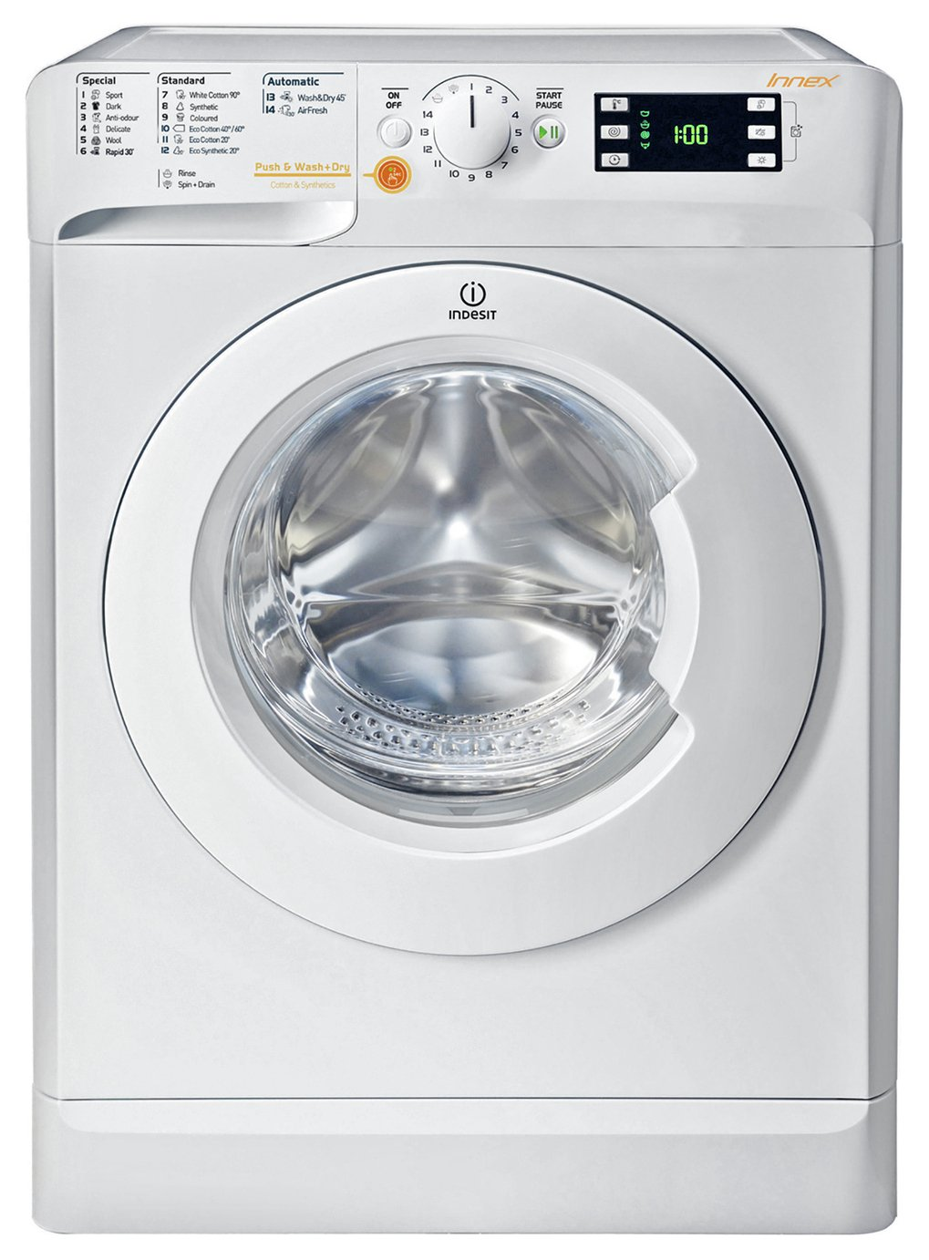 Indesit WDE861680XWUK 6KG 1400 Spin Washer Dryer - White
