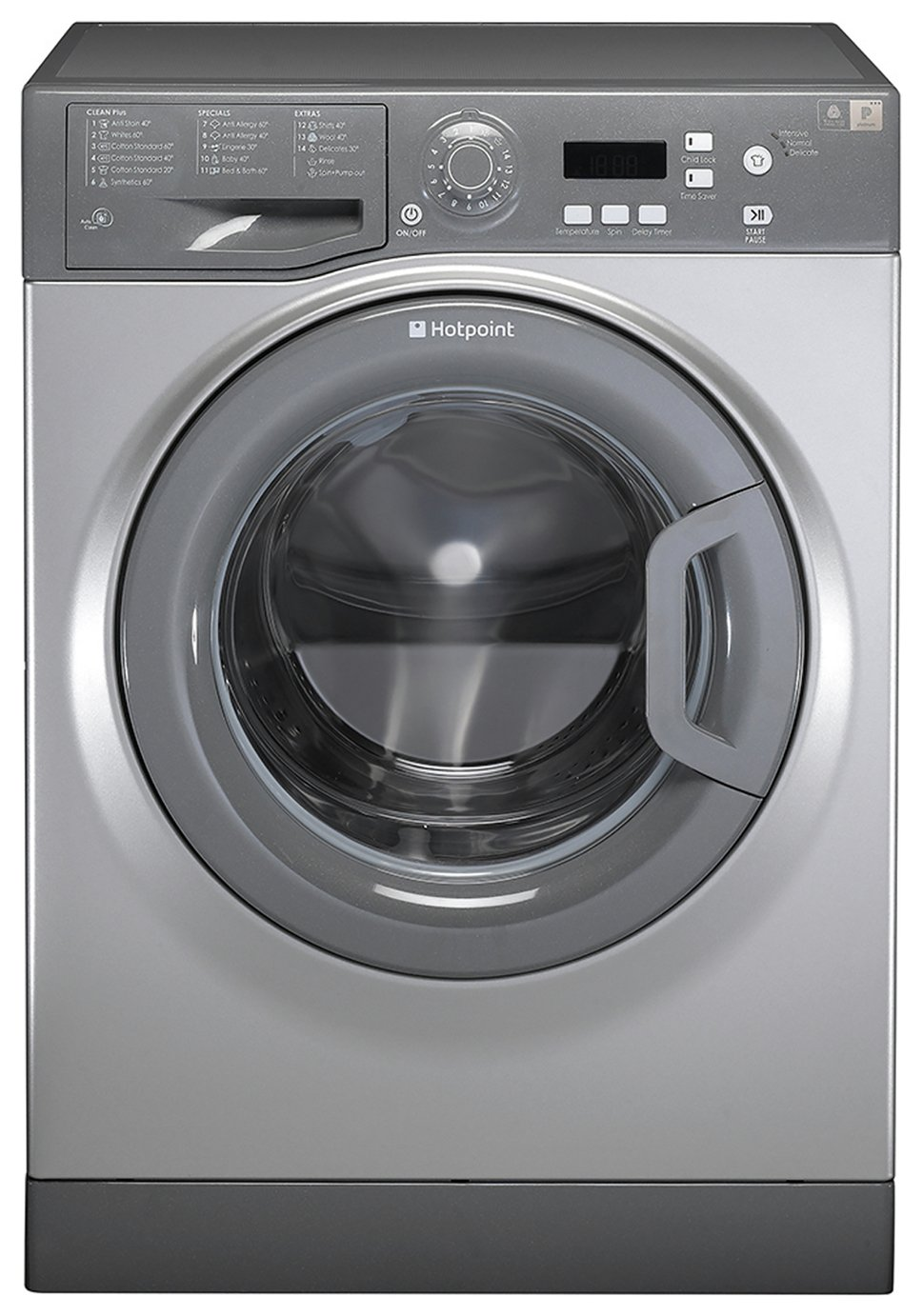 Image of Hotpoint WMAQF721G 7KG 1200 Spin Washing Machine - Graphite