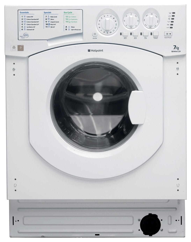 Image of Hotpoint BHWM1292 7KG 1200 Integrated Washing Machine White