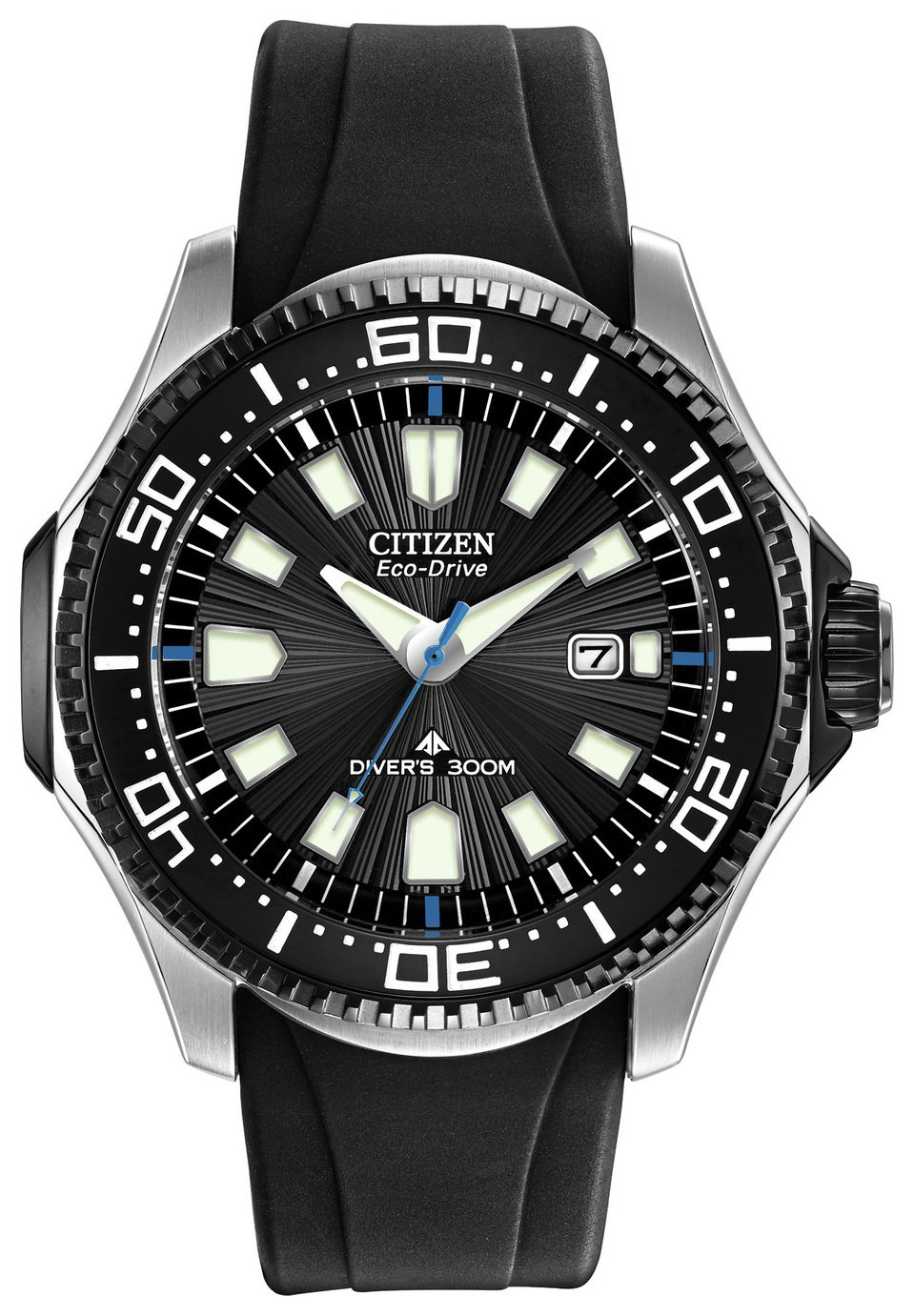 Citizen Eco-Drive Men's Black Silicone Rotating Bezel Watch