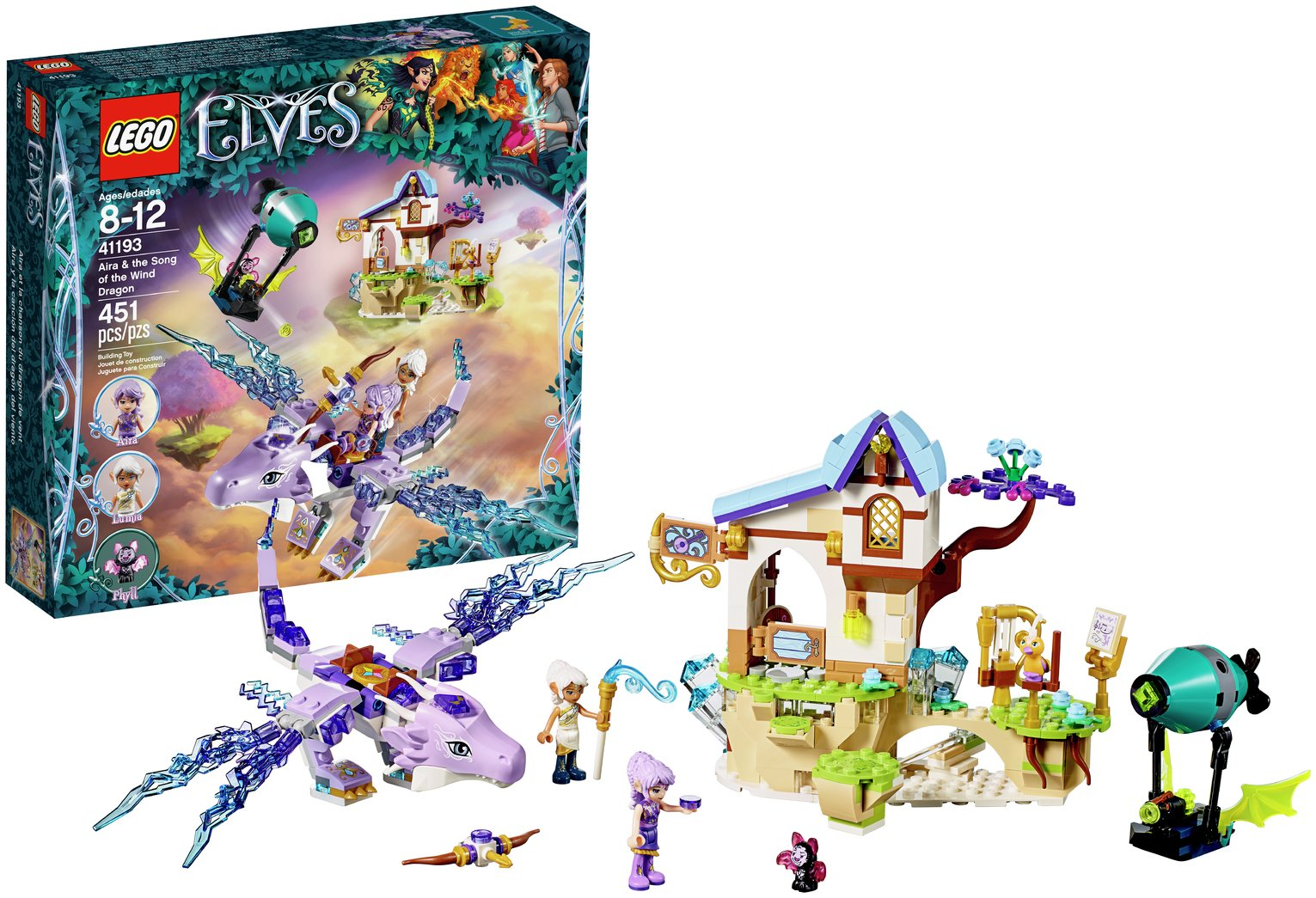 Buy LEGO Elves Aira Song of the Wind Dragon - 41193 | LEGO | Argos