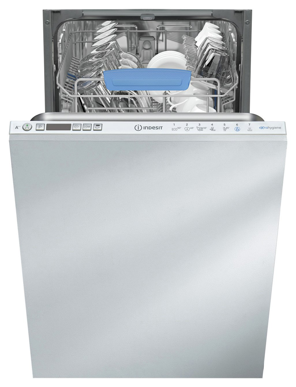 Indesit DISR57M96Z Slimline Integrated Dishwasher - White