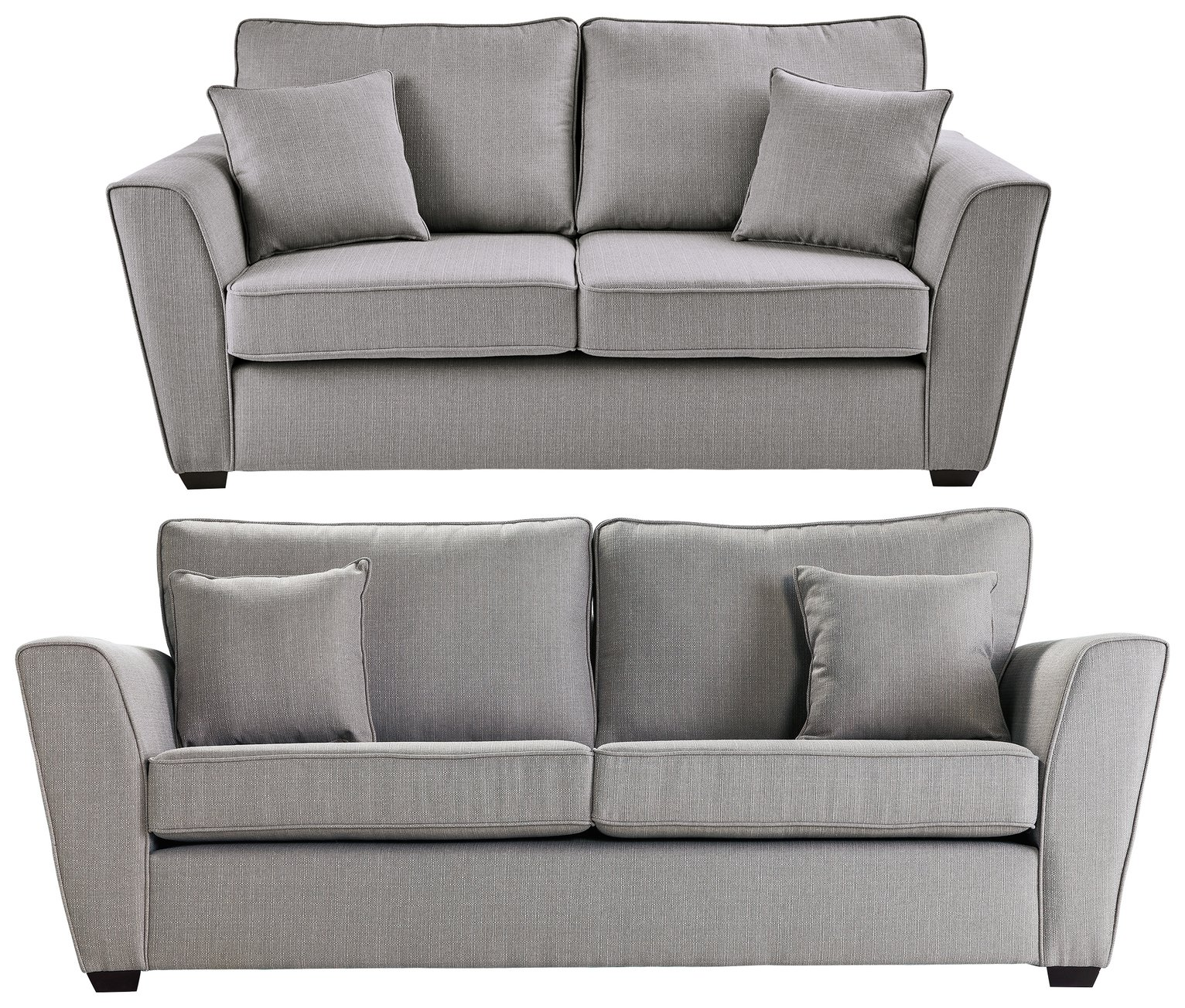 Collection Renley 2 Seater and 3 Seater Sofa - Light Grey