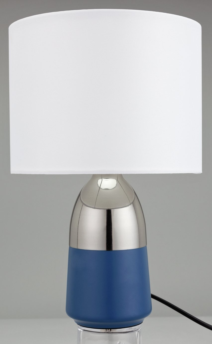 'Home Duno Touch Table Lamp - Blue & Chrome